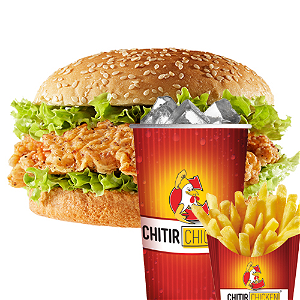 Foto Fried chickenburger menu